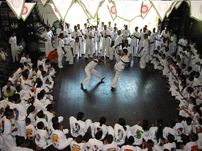 Capoeira is one of the important integration activities at Hummingbird