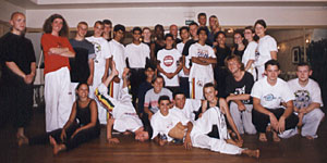 Youth from the Norwegian Capoeira Club