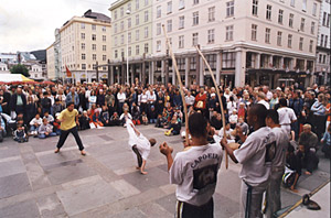 Former street children from Brazil teaching Capoeira in Norway
