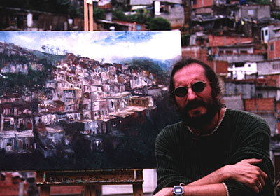 Gregory J. Smith - Painting the scene behind the canvas
