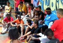 Integração Social com a Banda AfroReggae no ECBF