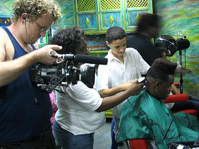 Cut! Cut! – No! Not the filming, his hair!