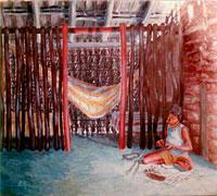 Ângela - Óleo sobre tela: 115 x 130 cm.