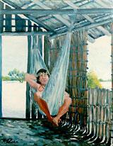 Tururin Tá Só Descansando - Óleo sobre tela: 95 x 120 cm. - Coleção particular.