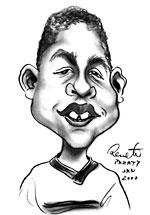 Roger, jovem estagiário de Capoeira Beija-Flor