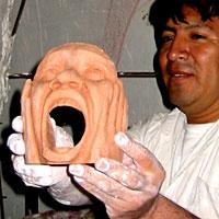 O artista plástico Jorge Vargas com mais um desafio